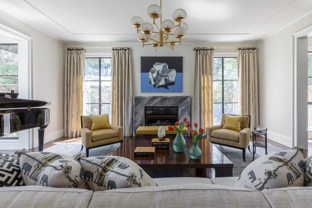 elegant modern transitional living room san