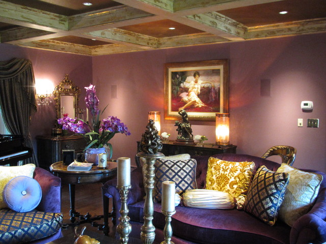 Perfect Living Room Ideas Aubergine Color Throughout Decorating