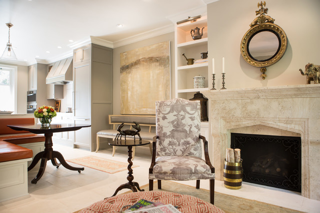 Elegant Townhome in Pasadena - Traditional - Living Room - Los ... on