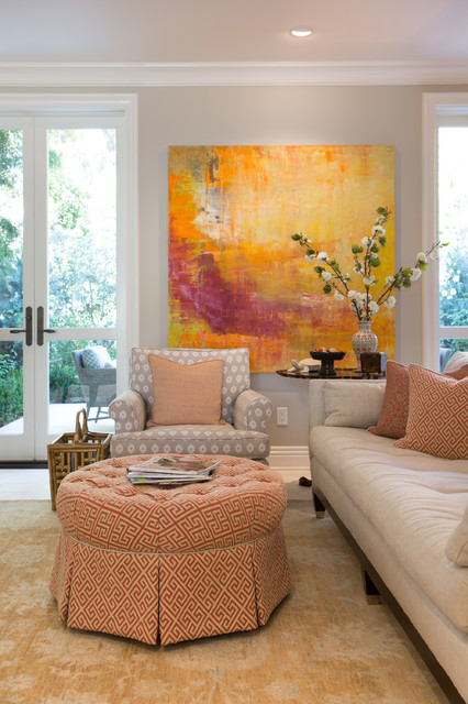 Houzz Living Room Wall Decor: Elegant Townhome In Pasadena