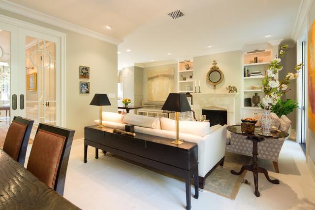 Elegant townhome in pasadena traditional living room for Elegant traditional living rooms