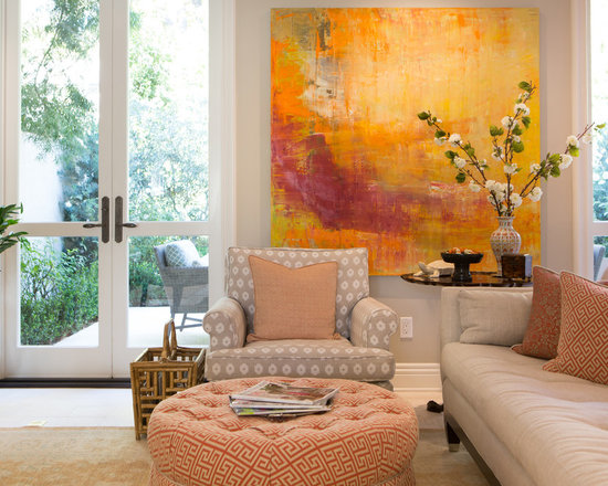 neutral pallet with pops of color living room design ideas