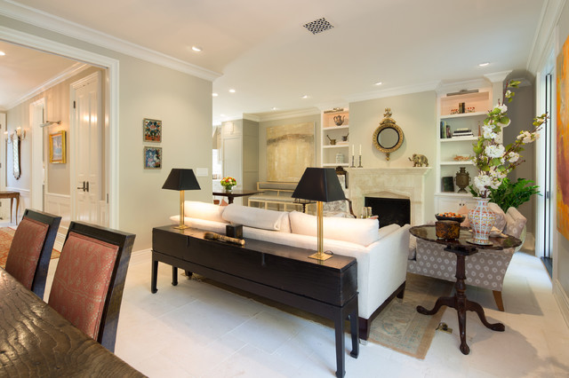 Elegant townhome in pasadena traditional living room for The family room pasadena