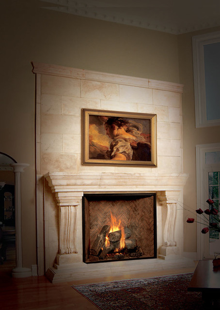 Elegant victorian style fireplace victorian living for Victorian corner fireplace