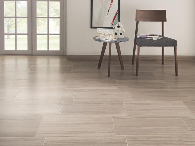 Elegante taupe tiled kitchen modern living room for Home carpet one chicago