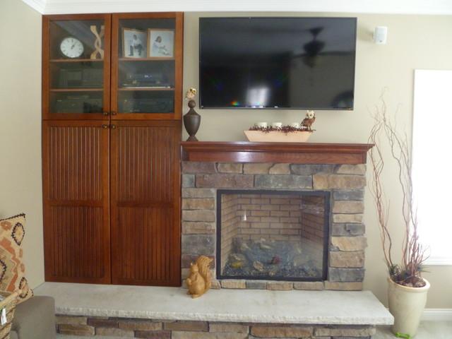Elk Rapids Custom Home traditional-living-room