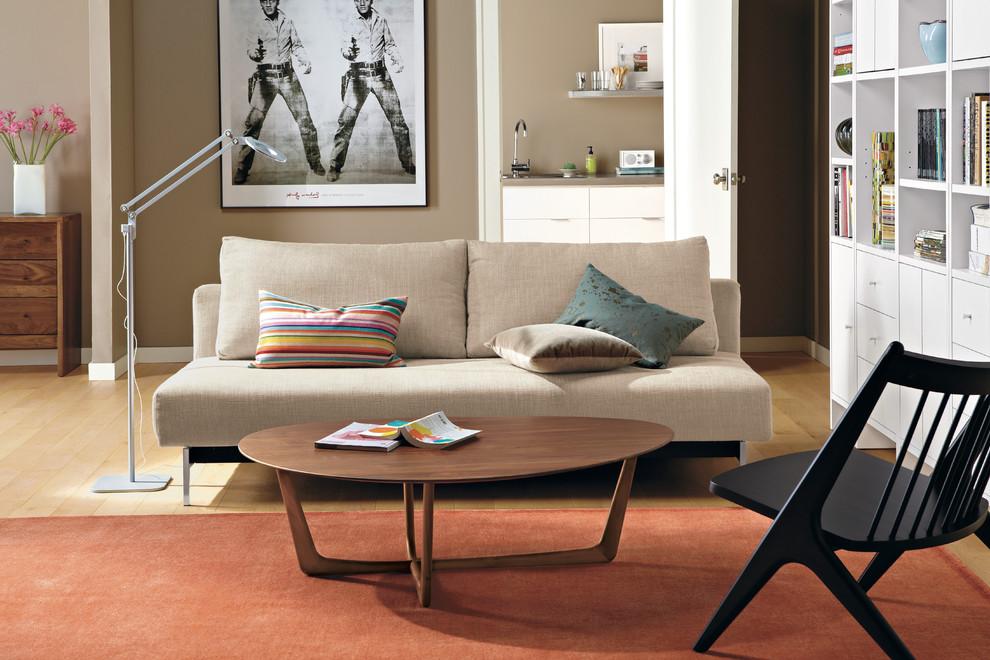 Living room - modern living room idea in Minneapolis