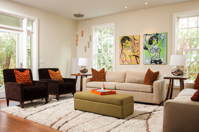 Eller Contemporary Living Room Charleston By Andrew Sherman Photography