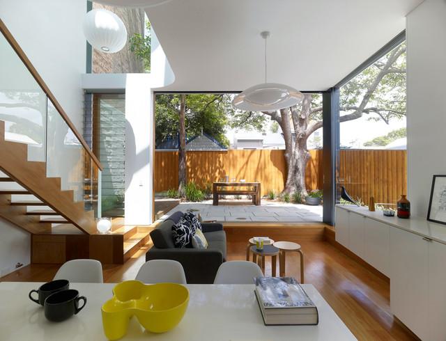 Elliott Ripper House contemporary-living-room