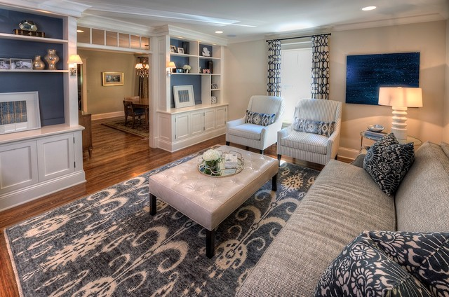 outstanding navy white living room | Navy & White Living Room - Traditional - Living Room ...