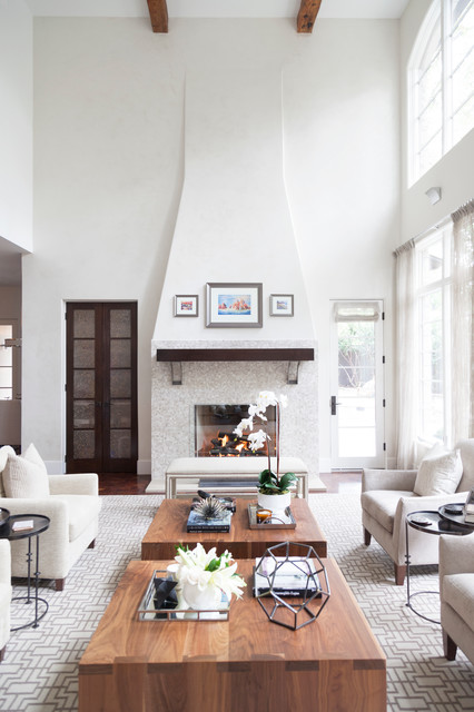 Inspiration for a transitional living room remodel in Austin