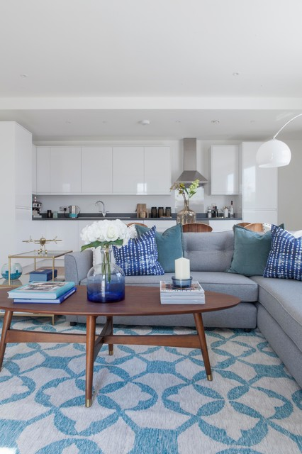 Beautiful Blue And Grey Living Room Ideas You Re Going To Love Houzz Uk
