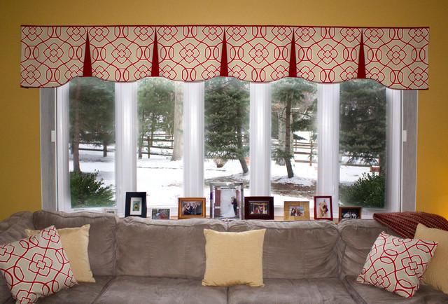 Emilee Rod Pocket Valances, Valances For Living Room