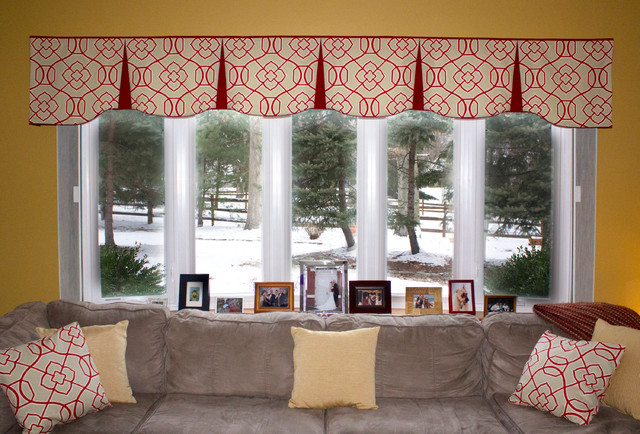 Emilee hidden rod pocket valances contemporary living for Living room valances