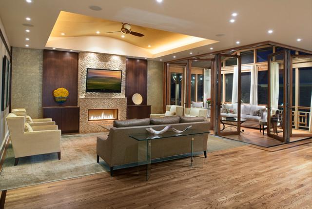 Emory Contemporary Living Room Atlanta By Moon