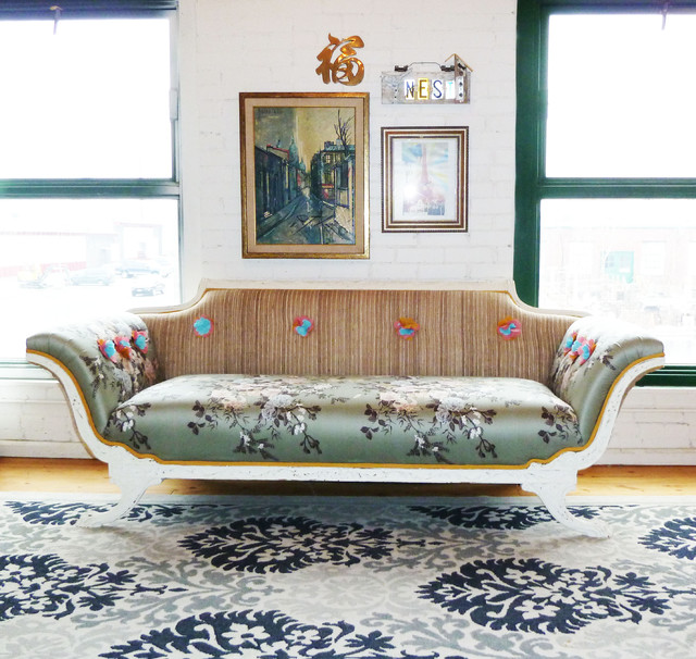 Empire Sofa In Loft Space Eclectic-living-room