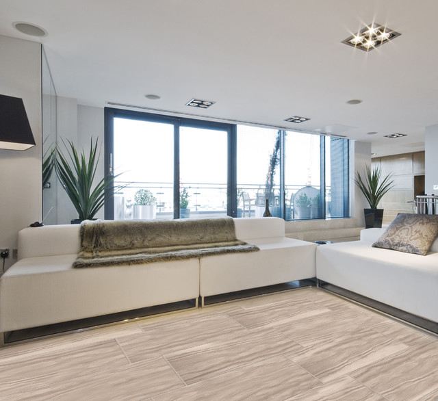 Emser Tile Motion Series Contemporary Living Room