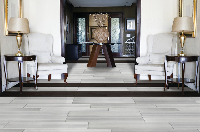 Emser Tile Perspective Series Contemporary Living Room