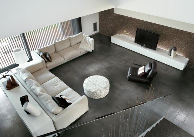 Emser Tile - Woodstock modern-living-room