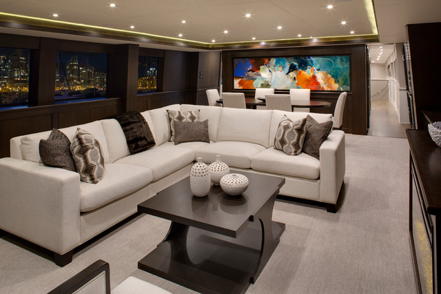 Encore Yacht Contemporary Living Room Vancouver