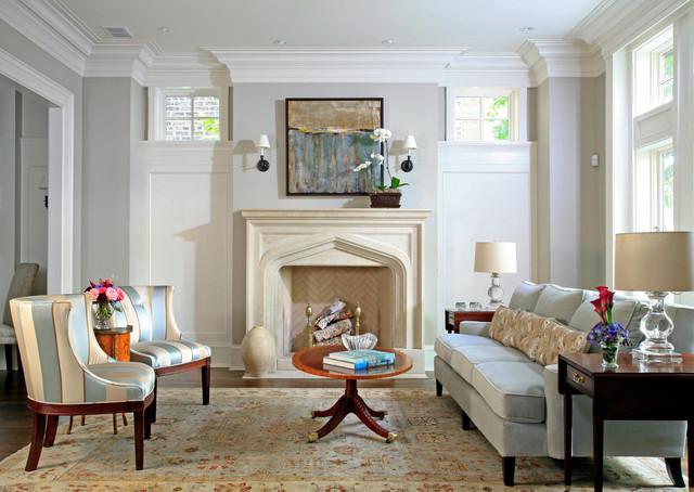 English City House Living Room Traditional Living Room