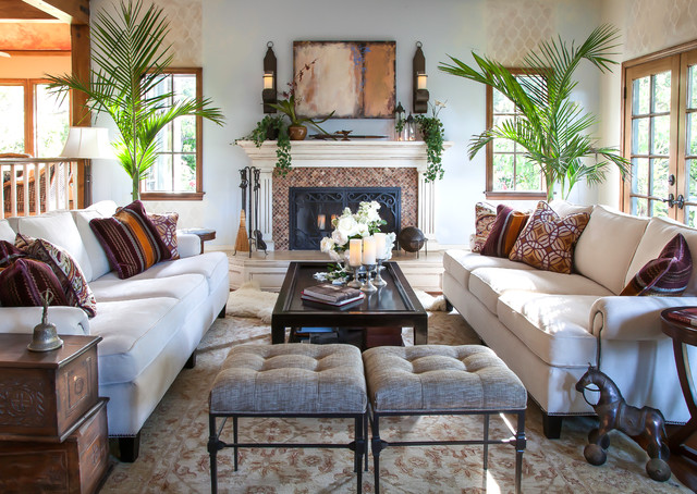 English Cottage Living Room Traditional Living Room Santa Barbara By Maraya Interior Design