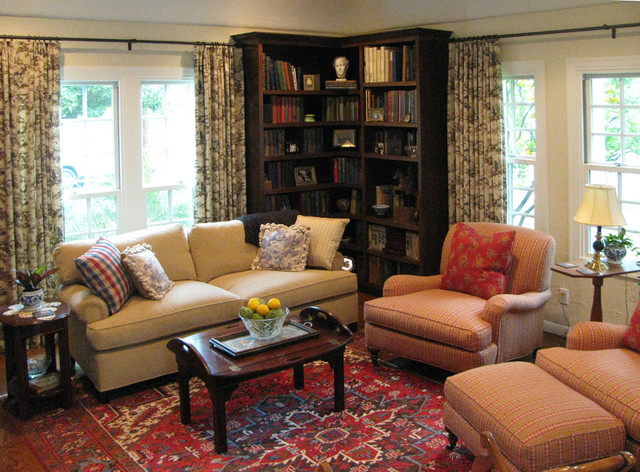 English Cottage with French Country Furnishings - Traditional - Living Room - Los Angeles - by ...
