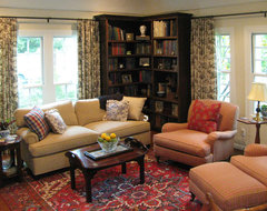 English Cottage with French Country Furnishings traditional-living-room