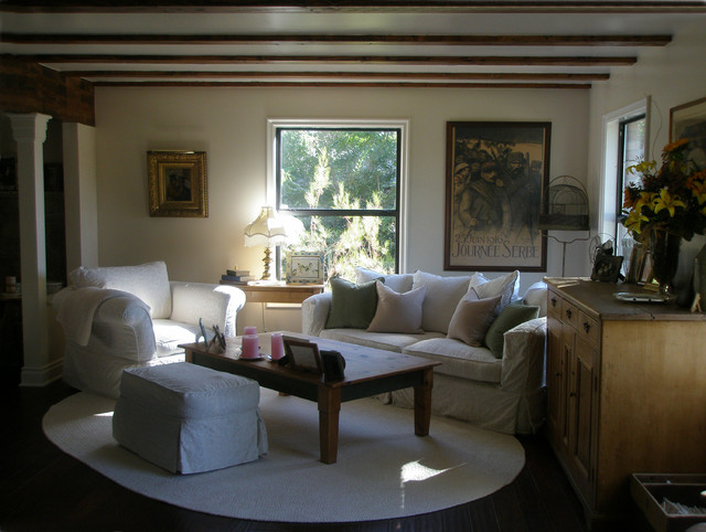 English Country in Calabasas California traditional-living-room