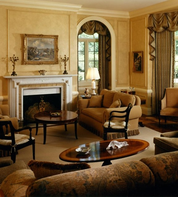 Traditional Living Room Pictures: English Manor House