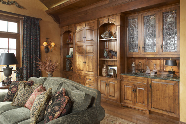 English Manor House in Edina - Traditional - Living Room - minneapolis ...