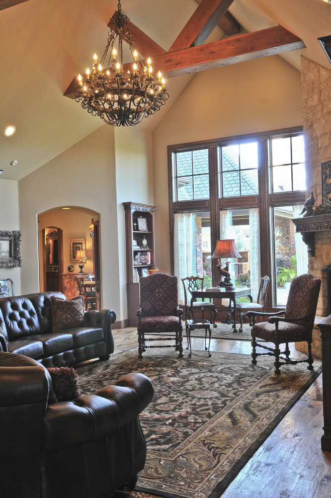 english tudor  traditional  living room  oklahoma city