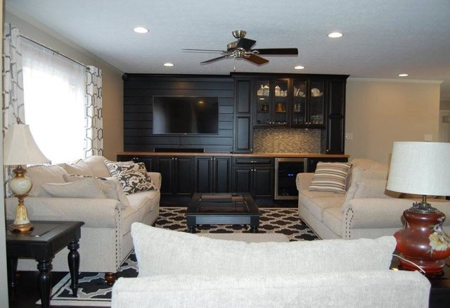 Inspiration for a transitional living room remodel in Indianapolis