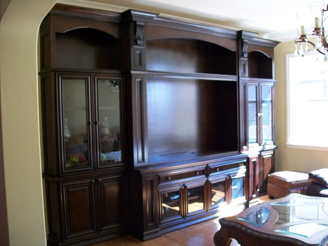 Entertainment center and wall units for Traditional wall units