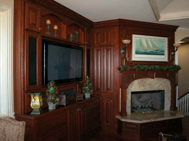 Home Theaters of The French Tradition traditional-family-room