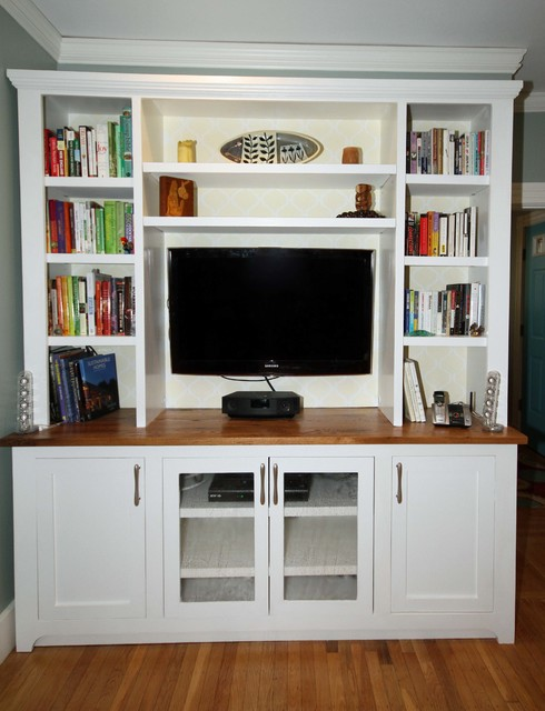 Entertainment Center Transitional Living Room Boston By ColorWorks Ho