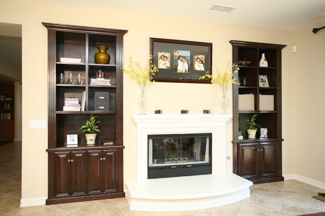 Entertainment Centers Built In Niches Traditional Living Room