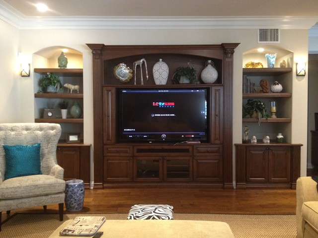 Charming Entertainment Centers And Wall Units Traditional Living Room