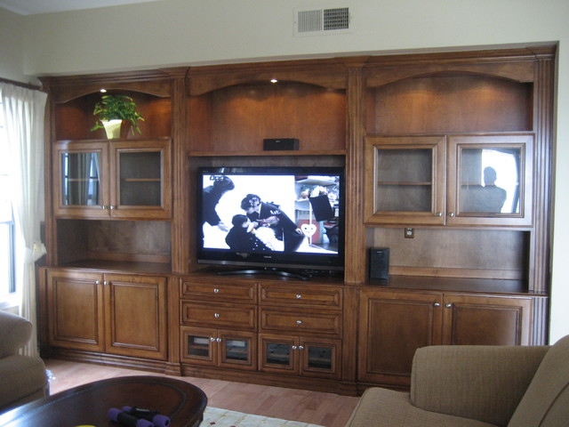 Entertainment Centers and Wall Units - Traditional - Living Room ...