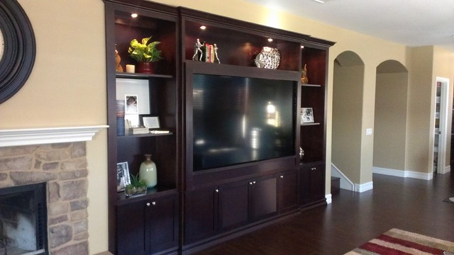 Entertainment Centers And Wall Units Contemporary Living Room