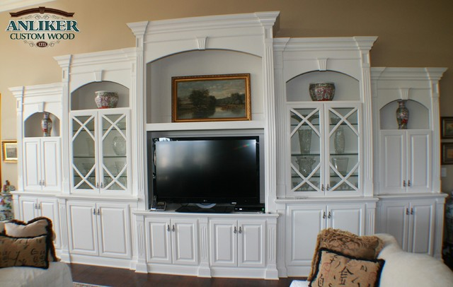 Entertainment centers built ins mantels traditional living room other metro by for Custom built ins for living room