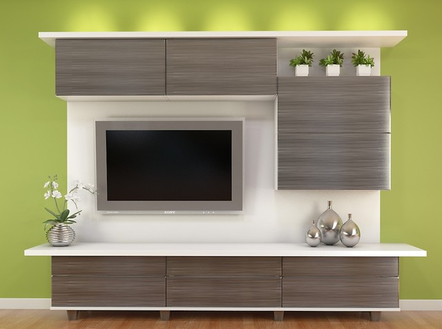 Entertainment Centers Modern Living Room Los Angeles By Closet Factory