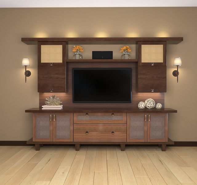 Entertainment Centers - Contemporary - Living Room - los angeles - by Closet Factory