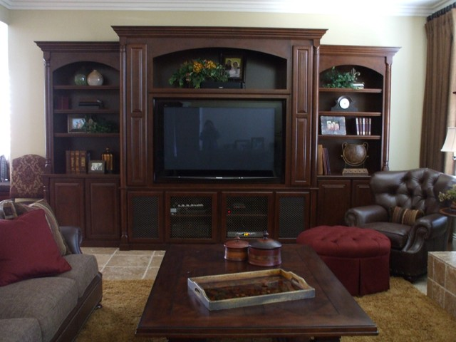 Entertainment centers traditional living room orange for Living room entertainment