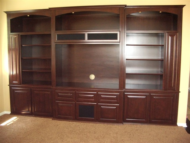 Entertainment Centers Traditional Living Room Orange County