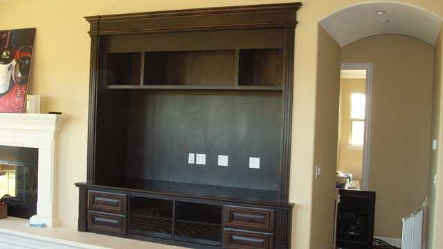 Entertainment systems traditional living room san francisco by bay point woodworking - Woodwork design for living room ...