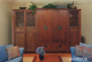 Entertainment Unit Using Antique Panels Asian Living