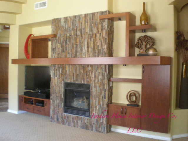 Entertainment Wall Contemporary Living Room Phoenix By Fashion House Interior Design Co Llc