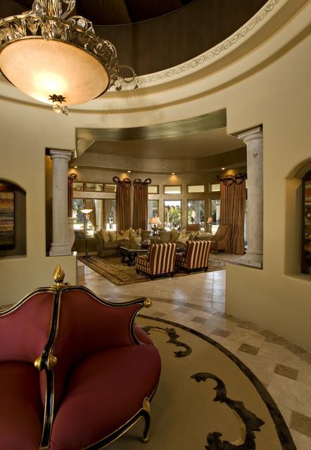 Venetian Eclectic Entry Foyer Living Room Mediterranean
