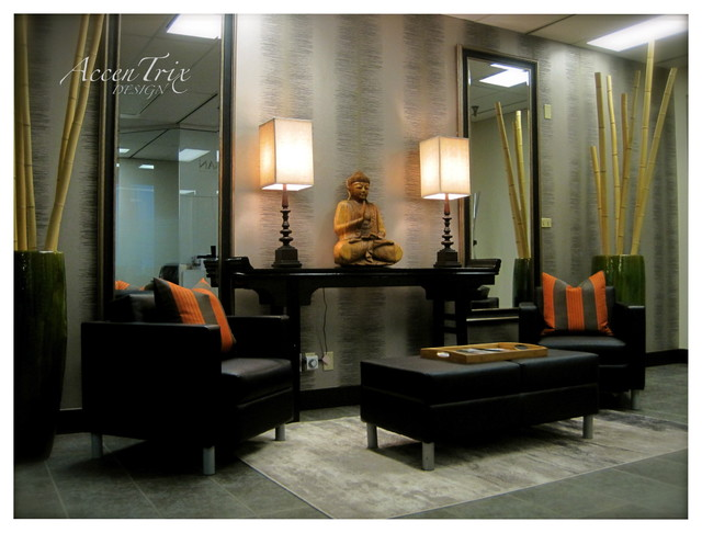 Entry Way Asian Living Room Vancouver By Accentrix